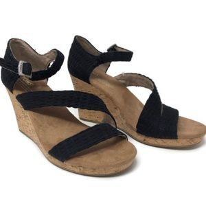 Toms Clarissa Women's Wedge Heels Strap Open Toe